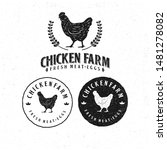 Template Chicken Logo. Labels ...