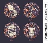 Vector Set Of Zodiac Signs....