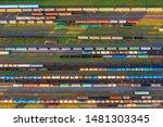 Aerial View Of Rail Sorting...