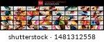 mega set of 3d triangle low...   Shutterstock .eps vector #1481312558