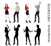set of men and women standing ... | Shutterstock .eps vector #1481336318