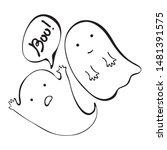 ghost. cute halloween ghost...   Shutterstock .eps vector #1481391575