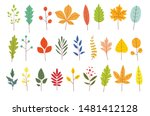 set of colorful autumn leaves.... | Shutterstock .eps vector #1481412128
