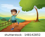 Illustration Of A Young Boy...