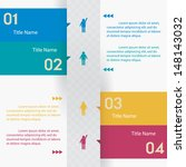 design clean number banners... | Shutterstock .eps vector #148143032
