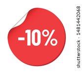 round red discount sticker....   Shutterstock .eps vector #1481442068
