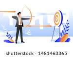 business goal achievement... | Shutterstock .eps vector #1481463365