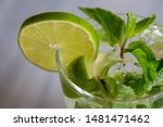 refreshing lemon juice with... | Shutterstock . vector #1481471462