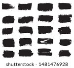collection of paint strokes... | Shutterstock .eps vector #1481476928