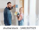 smiling happy couple choosing... | Shutterstock . vector #1481537525