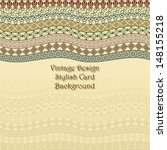 elegant card with vintage... | Shutterstock .eps vector #148155218