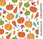 Seamless Pattern For Autumn...