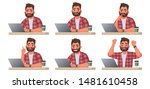 stages of doing work on a... | Shutterstock .eps vector #1481610458