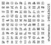farming robot icons set....