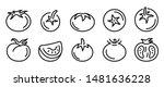 Tomato Icons Set. Outline Set...