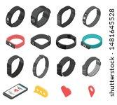 fitness bracelet icons set.... | Shutterstock .eps vector #1481645528