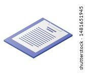 checklist icon. isometric of...