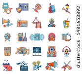 media recreation icons set.... | Shutterstock .eps vector #1481653892