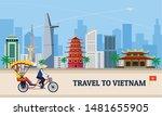 travel to vietnam concept... | Shutterstock .eps vector #1481655905