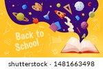back to school banner. template ... | Shutterstock .eps vector #1481663498