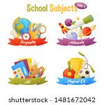 school subjects set include... | Shutterstock .eps vector #1481672042