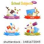 school subjects set include... | Shutterstock .eps vector #1481672045