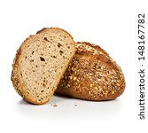 fresh whole grain bread cut in...   Shutterstock . vector #148167782