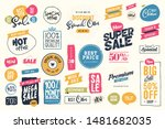 set of labels and stickers for... | Shutterstock .eps vector #1481682035