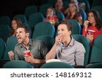 friends in cinema. two friends... | Shutterstock . vector #148169312