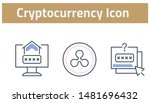 collection of cryptocurrency... | Shutterstock .eps vector #1481696432
