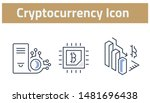 collection of cryptocurrency... | Shutterstock .eps vector #1481696438
