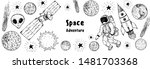 hand drawn space vector... | Shutterstock .eps vector #1481703368