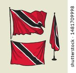 flag of trinidad and tobacco on ...   Shutterstock .eps vector #1481709998