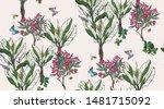 seamless pattern beautiful hand ...   Shutterstock .eps vector #1481715092