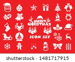 cute christmas icon set  ...