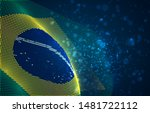 vector bright glowing country... | Shutterstock .eps vector #1481722112