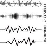 sound audio wave. vector set... | Shutterstock .eps vector #1481725865