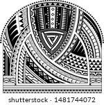 sleeve tribal tattoo in maori... | Shutterstock .eps vector #1481744072