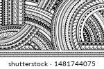 maori style tattoo ornament for ... | Shutterstock .eps vector #1481744075