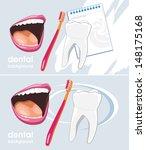 dental background for design.... | Shutterstock .eps vector #148175168