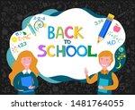 welcome back to school  cute... | Shutterstock . vector #1481764055