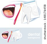 dental concept. icon and banner ... | Shutterstock .eps vector #148176458