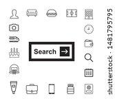 set of search bars  flat web...