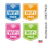 colorful four wifi free icons... | Shutterstock .eps vector #148179632