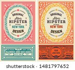 set of 2 old liquor labels for... | Shutterstock .eps vector #1481797652