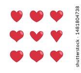 heart vector icons  love symbol ... | Shutterstock .eps vector #1481804738