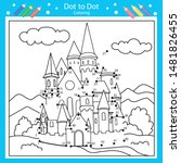 dot to dots drawing worksheets... | Shutterstock .eps vector #1481826455