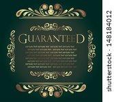 calligraphic design element | Shutterstock .eps vector #148184012