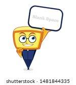 yellow box head mascot... | Shutterstock .eps vector #1481844335