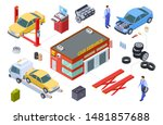 car service isometric concept.... | Shutterstock .eps vector #1481857688